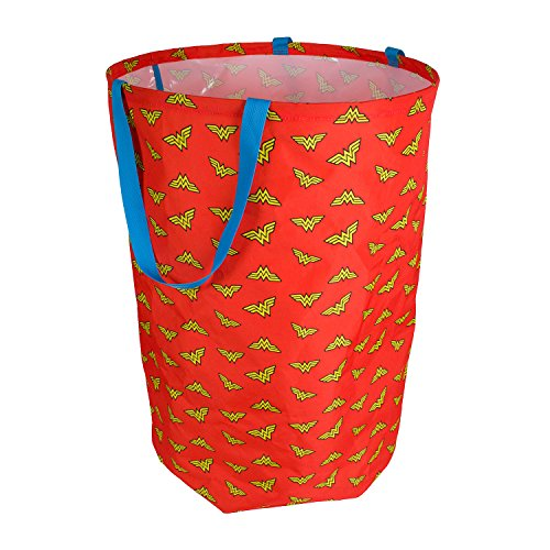 Wonder Woman Laundry Hamper | Clothes Hamper for Closet, Bedroom Organizer, Laundry Basket | DC Comics Folding Laundry Basket for Clothes, Children s Stuffed Animals, Kids Toys