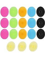 Dadabig 18 stuks Silicone gezichtsreinigingsborstel, handmatig silicone gezichtsreiniger scrubber penseel pads zacht mee-eterverwijderaar acne neus poriënreinigingsmiddel borstel dieptereiniging, 6 kleuren
