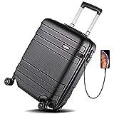 REYLEO Hardside Luggage 21 Inch Carry On Luggage 4-level Handle Travel Suitcase