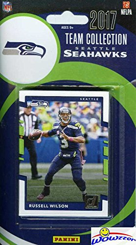 Seattle Seahawks 2017 Donruss NFL Football Factory Sealed Limited Edition 11 Card Complete Team Set with Russell Wilson, Jimmy Graham, Richard Sherman & Many More! Shipped in Bubble Mailer! WOWZZER