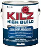 KILZ High Build Surface Healing Primer Interior Water-Based Primer/Sealer, White, 1-gallon