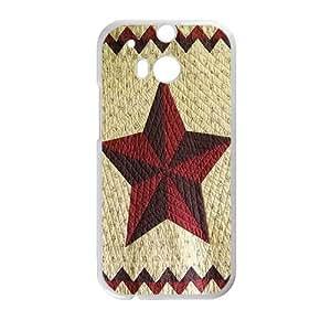 Clzpg Custom HTC One M8 Case - Five-pointed star phone case