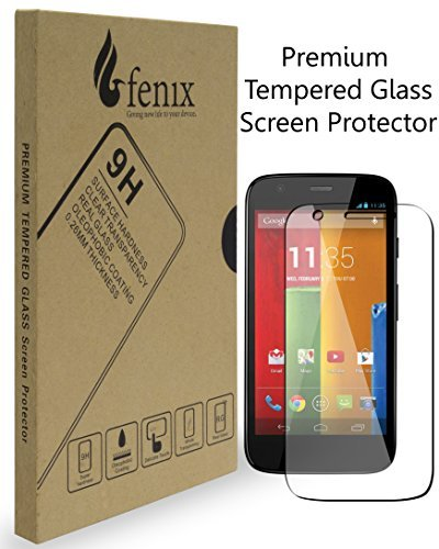 Fenix   Motorola Moto G  0 26Mm Thickness  9 H Premium Tempered Glass Screen Protector With Two Year Warranty   Ultra High Definition Invisible  Clear Transparancy  Oleophobic Coating And Anti Bubble Crystal Shield