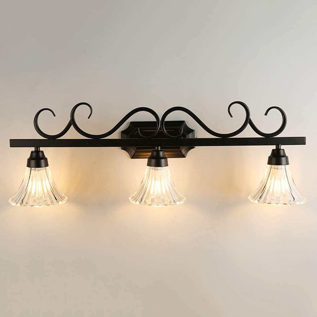LED防水と防曇ミラーヘッドライト、ヨーロッパスタイルの豪華なガラスのランプシェード   B07GVG2LRW