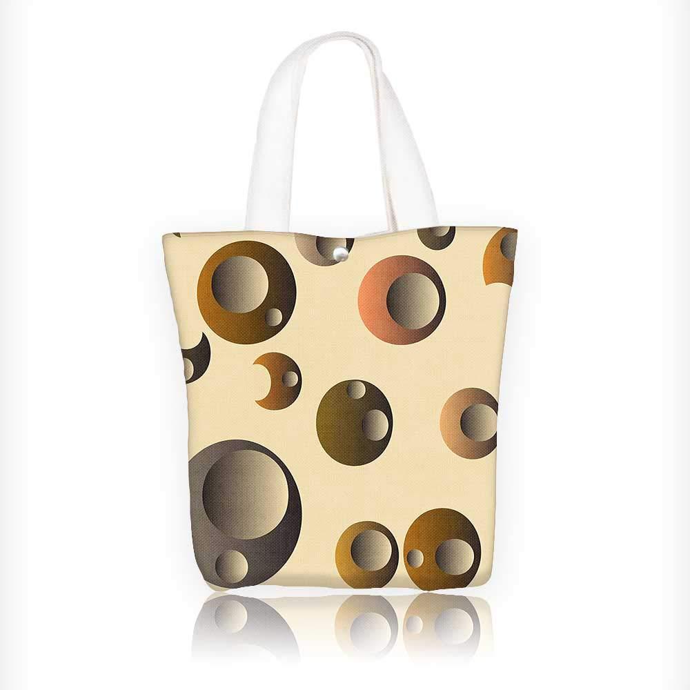 Amazon.com  Women s Canvas Tote Handbags Retro Funky Nostalgic Polka Dots  Circle Rounds in Contrast Casual Top Handle Bag Crossbody Shoulder Bag Purse  ... 20ace390cf77c