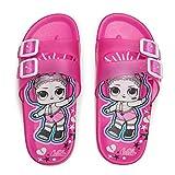 L.O.L. Surprise! Girls 11-3 Double Buckle Slide Sandals, Fuchsia, 13 Little Kid (Color: Fuchsia, Tamaño: 13 Little Kid)