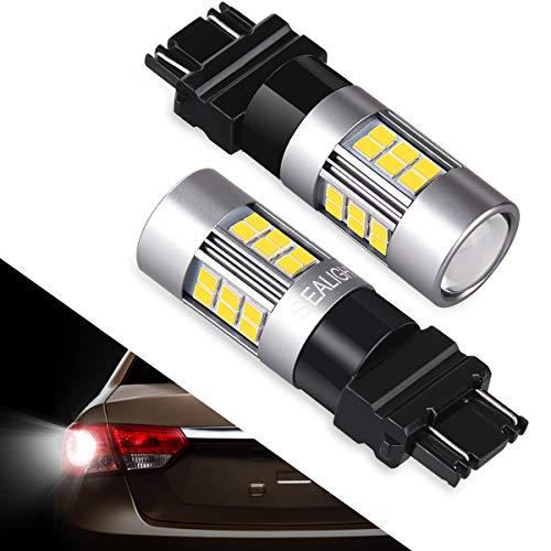 3157 LED Bulb 3156 Back Up Lights, SEALIGHT 3057 3056 Super Bright White Reverse Lights, Parking Lights, 27 SMD 12V 6000K 2018 Upgrade (2 Pack)