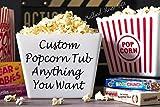 Personalized Popcorn Tub Custom Popcorn Tub Party Favor Custom Popcorn Bowl Birthday Christmas Teacher Gift