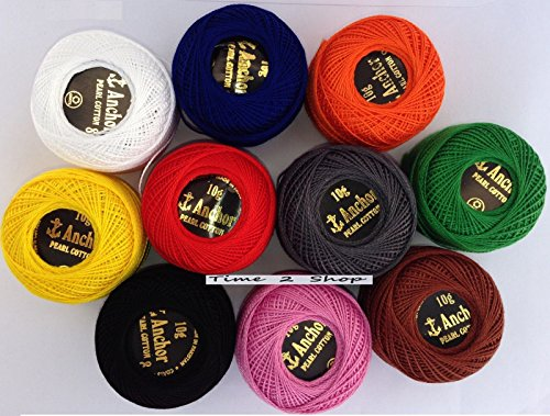 Anchor Pearl Cotton Crochet embroidery basic solid demanding thread 85m size 8