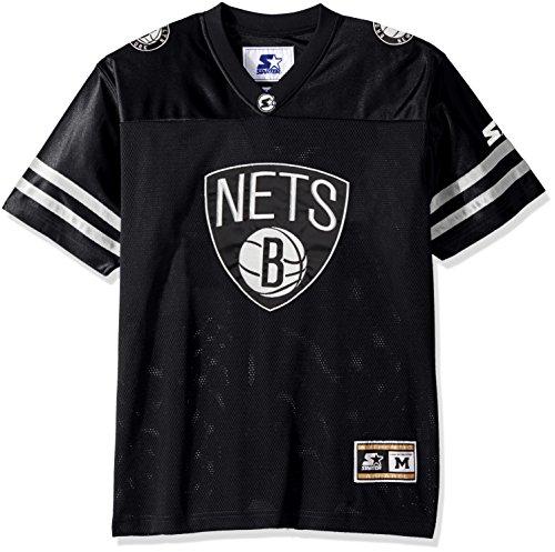 NBA Brooklyn Nets Men's Heritage Football Jersey, X-Large, Black