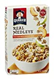 Quaker Real Medleys Cereal Peach Apple Walnut Multigrain 15.5 OZ (Pack of 12)