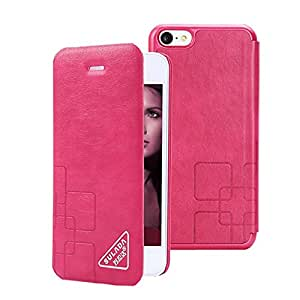 SAIDER [La Roja] cubierta del tirón de lujo con las ranuras para tarjeta billetera de cuero en folio del caso por un Apple iPhone 5C