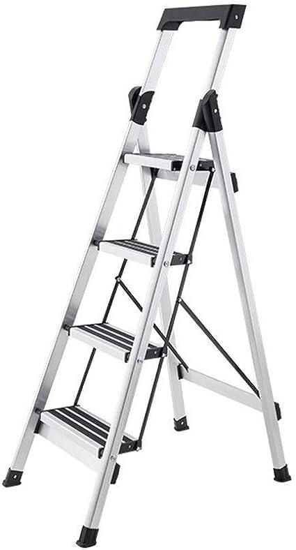Escalera plegable Herramientas Escaleras, 4 Paso de aleación de aluminio de tijera de doble uso de tijera Cafetería Almacén de tijera / 40 * 62 * 138 cm multifunción (color: plata, tamaño: 40 * 62 * 1: Amazon.es: Coche y moto