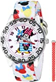 """Disney Kids' W001179 """"Minnie Mouse"""" Watch with Interchangeable Nylon Bands"""