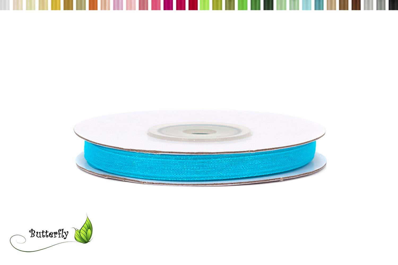 6 mm//22 coloris au choix blanc 029 25 M ruban dorganza
