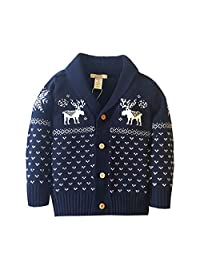 Dealone Baby Boys Girls Cardigan Sweater Toddler Knitted Jacket Outerwear