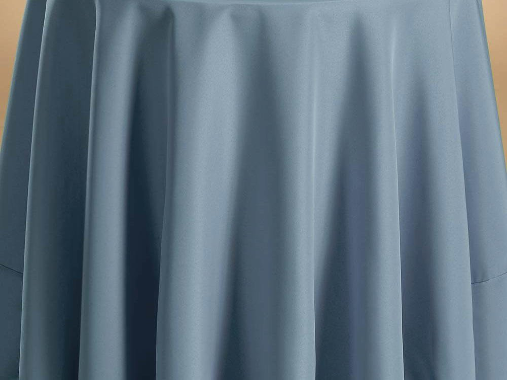 Bright Settings Fabric Sample - Flame Retardant Basic Polyester Solid Colors-Slate Blue