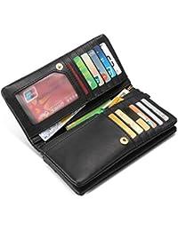 Billeteras para mujeres Card Case Bifold Wallet Multi Card Slots con correa para muñeca