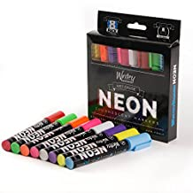 Writeyboard Neon Low Odor Premium Wet Erase Markers Eco-Friendly, 8 Pack