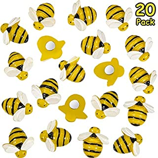 20 Pieces Bees Refrigerator Magnets Cute Bees Fridge Magnets Colorful Whiteboard Bee Magnets for Office Whiteboard Fridge Dry Erase Board