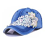 primerry Fashion (Hot Drilling Embroidered Grapes Denim) Hip-Hop Baseball Hat (Dark Blue)
