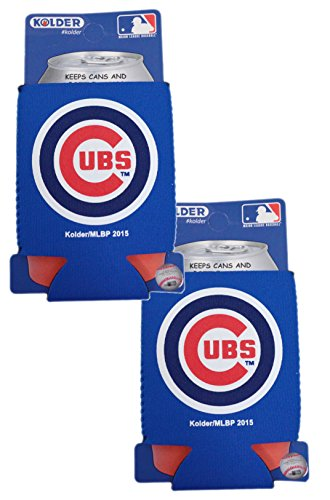 (Official Major League Baseball Fan Shop Authentic 2-Pack MLB Insulated 12 Oz Can Cooler (Chicago Cubs))