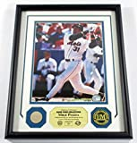 Mike Piazza Game Used Collection Photo Bat Coin Highland Mint Framed DF024811 - MLB Game Used Bats