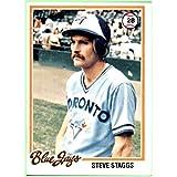 1978 Topps #521 Steve Staggs RC TORONTO BLUE JAYS Rookie Nrmt