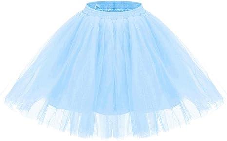 Aysimple Tutu Faldas de Mujer Adultos Tutú Skirt de Tul 50s ...
