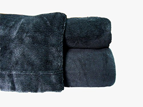 Cozy Fleece Microplush Sheet Set, Queen, Black
