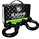 """Rhino USA D Ring Shackle (2 Pack) 41,850lb Break Strength – 3/4"""" Shackles For use With Tow Strap, Winch & Bubba Rope, Off Road Jeep Truck Vehicle Recovery, Best Offroad Towing Accessories for ATV UTV"""