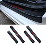 4PCS Accessories 3D Carbon Fiber Black Car door Plate Door Sill Scuff Plate Cars Sticker Anti-kick Scratch For Chevrolet Chevy Cruze Sedan Hatchback 2009-2015 Auto Car-styling (red)