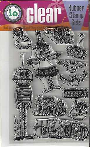 Impression Obsession Bats About You Cling Rubber Stamp CL696 -