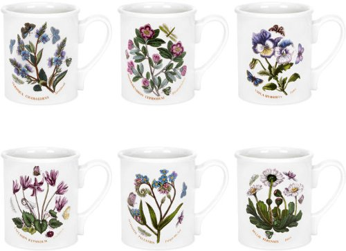 Botanic Garden Breakfast Mug - Portmeirion Botanic Garden Breakfast Mugs (Set of 6)