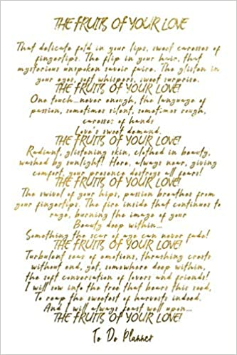 The Fruits Of Your Love Faux Gold Love Poem 6x9 To Do