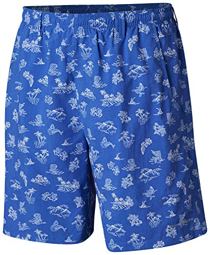 Columbia Men's Super Backcast Water Shorts, XX-Large x Size 8, Vivid Blue Mermaids N Marlins ()