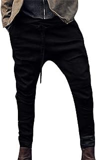 Men's Linen Casual Lightweight Drawstrintg Elastic Waist Summer Beach Pants Joggers
