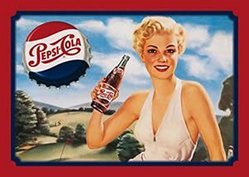 (Pepsi Cola Lady Golfer 12 X 16 Metal Sign)