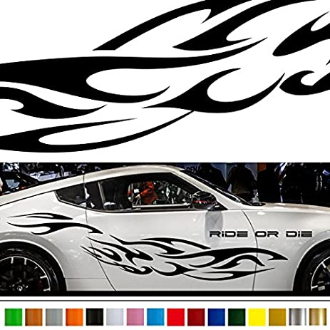 Fire car sticker car vinyl side graphics wa52 car vinylgraphic car custom stickers decals 【8