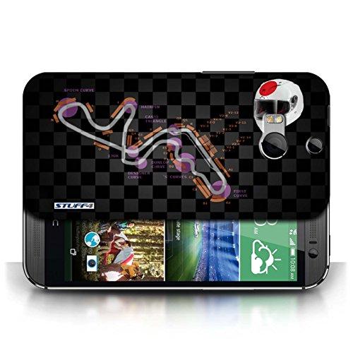 Etui / Coque pour HTC One/1 M8 / Japon/Suzuka conception / Collection de 2014 F1 Piste