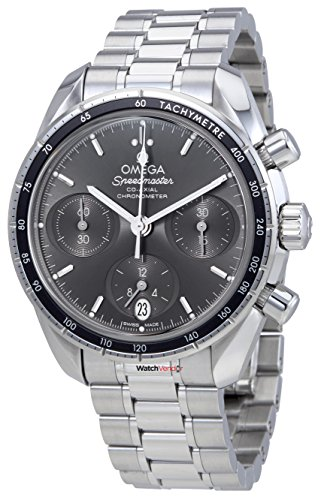 Omega Speedmaster Co-Axial gris Dial automático para hombre cronógrafo reloj 324.30.38.50.06.001