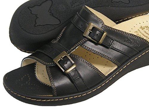 Fidelio Vrouwen Hallux Fabia Bunion Opluchting Slide Sandaal 43553 (zwart)