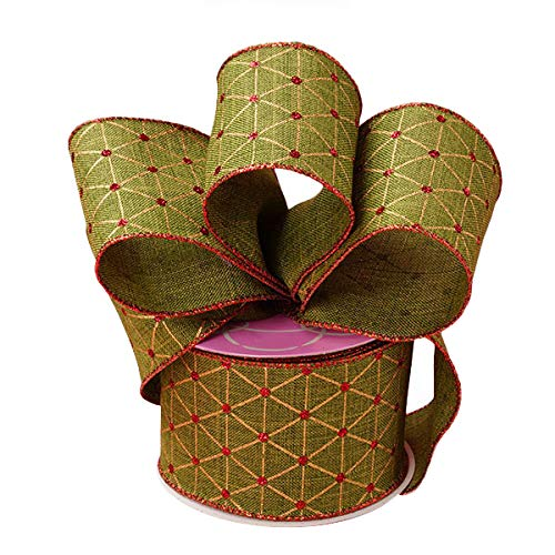 Holiday Wired Christmas Tree Ribbon - 2 1/2