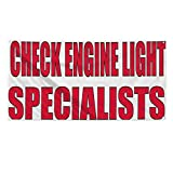 Check Engine Light Specialists Outdoor Fence Sign Vinyl Windproof Mesh Banner With Grommets - 3ftx6ft, 6 Grommets