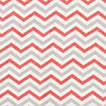 Trend-Lab-100-Cotton-Chevron-Deluxe-Flannel-Fitted-Crib-Sheet-Coral-PinkGray