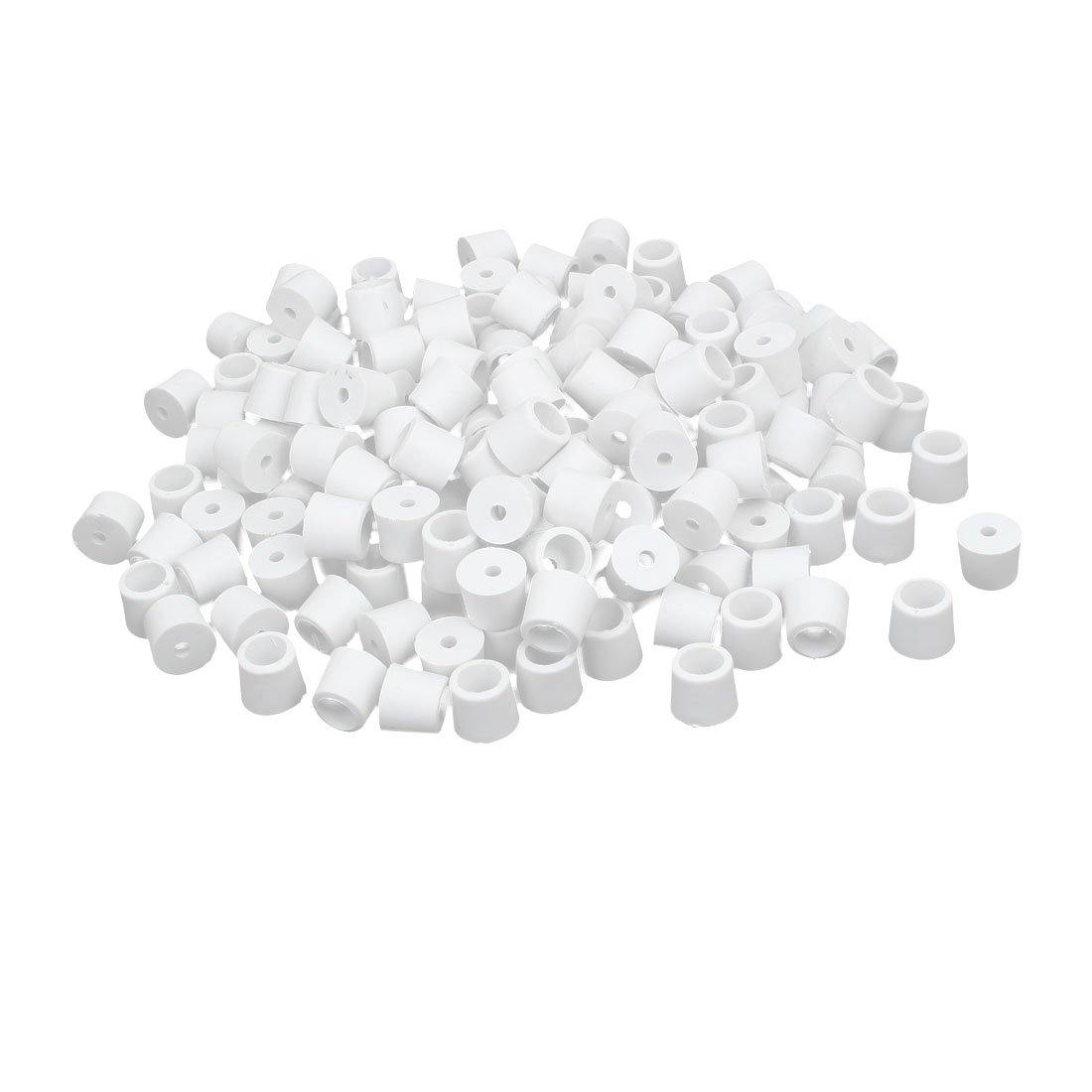 Aexit 17mmx15mm Rubber Furniture Accessories Conical Non-Slip Cover Tip Furniture Floor Pads Furniture Hanging Hardware White 200pcs