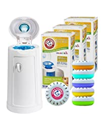 Munchkin Arm and Hammer Diaper Pail with 30 Count Refills and Nursery Fresheners BOBEBE Online Baby Store From New York to Miami and Los Angeles