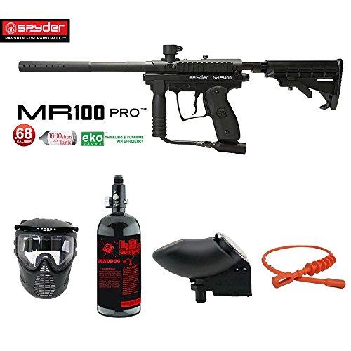 MAddog Spyder MR100 Pro 1 Star Nitro Paintball Gun Package - (Semi Pro Paintball Gun)