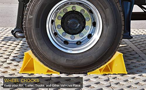 51yX6 BDEgL Pr1me 02-013 Unterlegkeil für Reifen, 2 Stück, rutschfest, für die meisten Reifengrößen, einfach aufzustellen