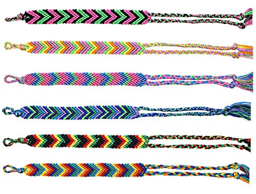 6 Pcs V Design Friendship Braid Bracelets